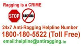 Image result for anti ragging toll free no